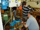 Ben and Ian making steering bushes