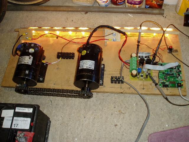 Motor and battery test rig
