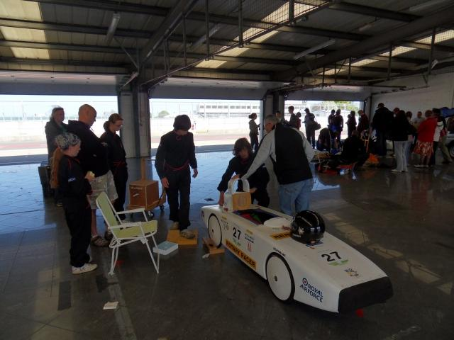 Getting ready in the masive Silverstone pit area